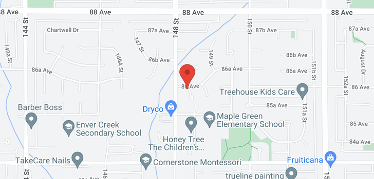 map of 8579 148A STREET