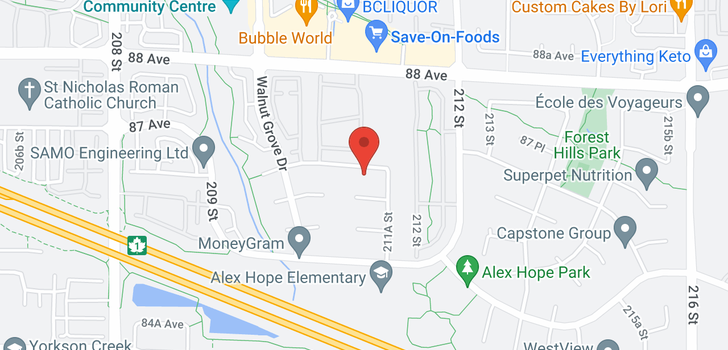 map of 21098 86A AVENUE