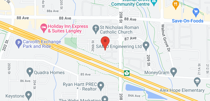 map of 18 20788 87 AVENUE
