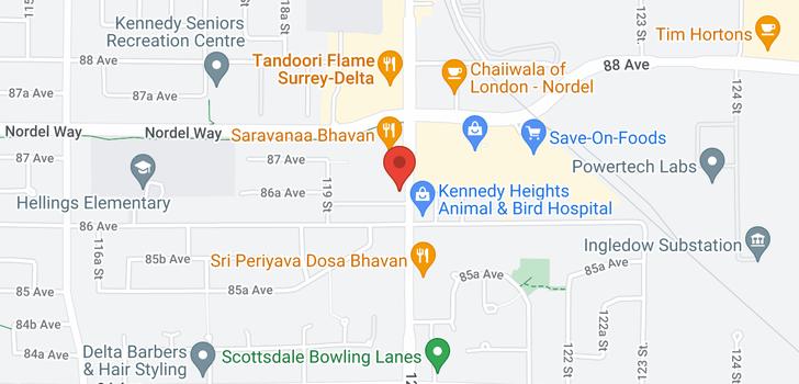 map of 246B 8635 120 STREET