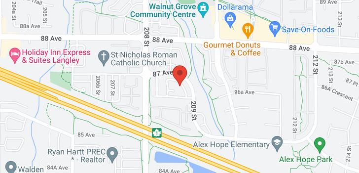map of 13 7947 209 STREET