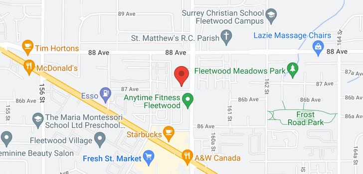 map of 407 8717 160 STREET