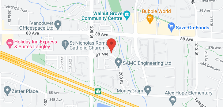 map of 65 20881 87 AVENUE