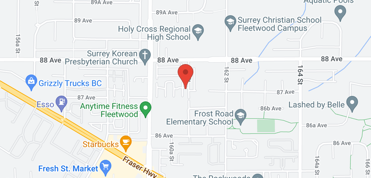 map of 12 8737 161 STREET