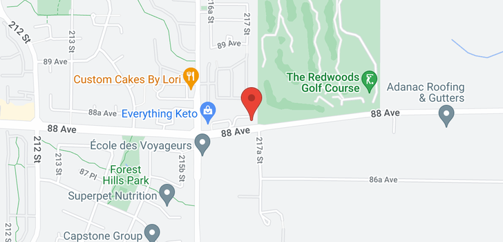 map of 112 21707 88 AVENUE