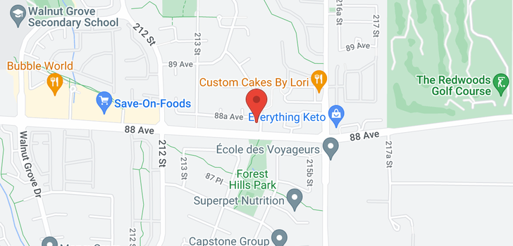 map of 21458 88A AVENUE