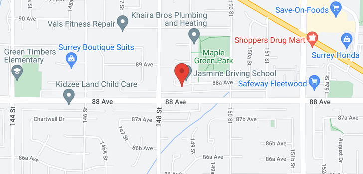 map of 14874 88A AVENUE