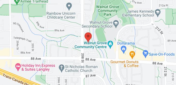 map of 63 8892 208 STREET