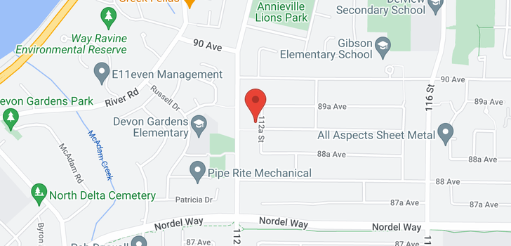 map of 8915 112A STREET