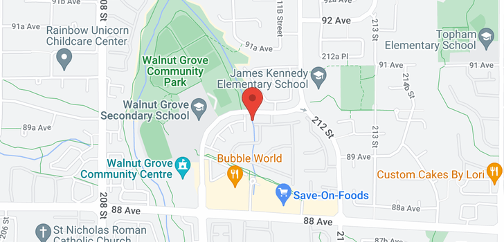map of 136 9012 WALNUT GROVE DRIVE