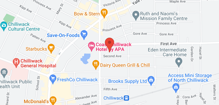 map of 209 46021 SECOND AVENUE