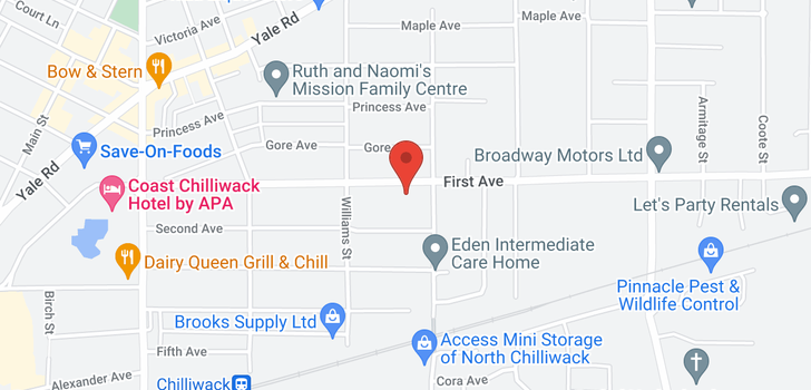 map of 122 46262 FIRST AVENUE
