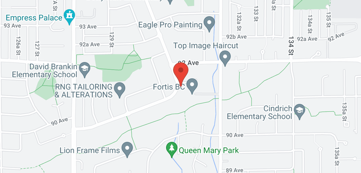 map of 9138 PRINCE CHARLES BOULEVARD