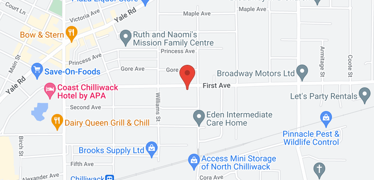 map of 312 46262 FIRST AVENUE