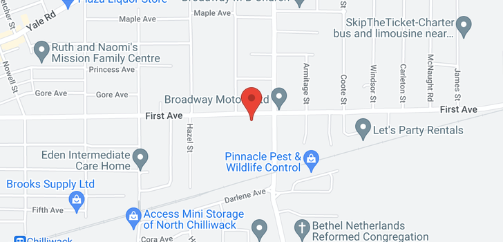 map of 1 46538 FIRST AVENUE