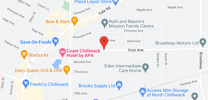 map of 46131 FIRST AVENUE