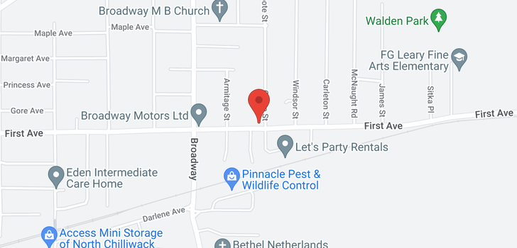map of 11 46689 FIRST AVENUE