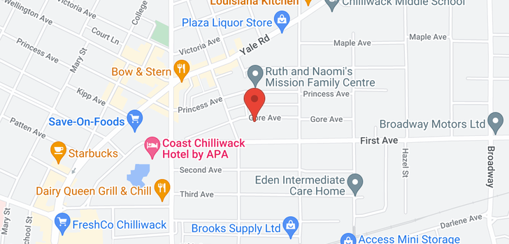 map of 46194 GORE AVENUE