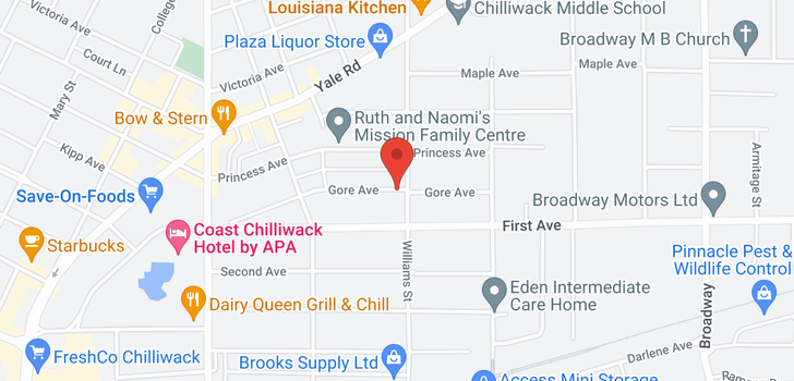 map of 46199 GORE AVENUE