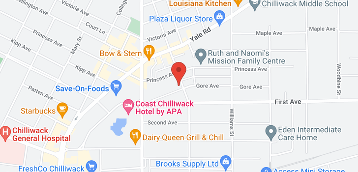 map of 10 46085 GORE AVENUE