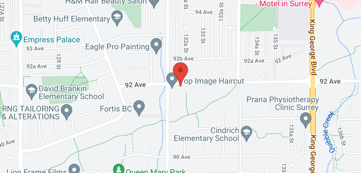 map of 13246 92 AVENUE