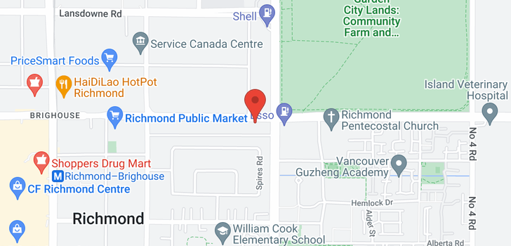 map of 201 8760 WESTMINSTER HIGHWAY