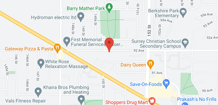 map of 15022 92 AVENUE
