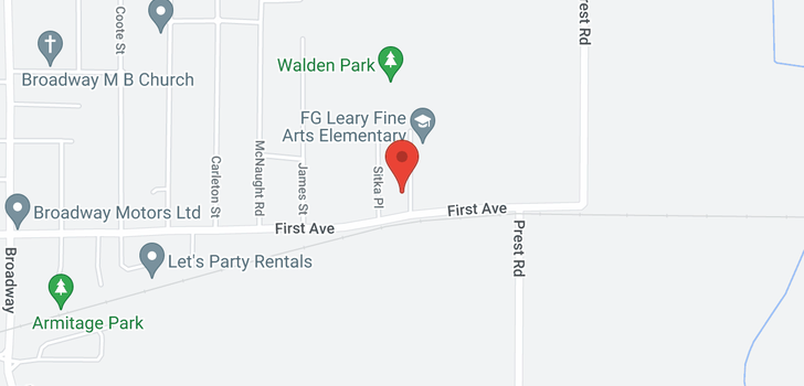 map of 9245 WALDEN STREET