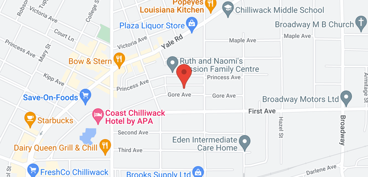map of 107 46165 GORE AVENUE