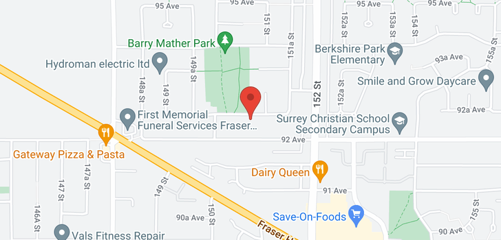 map of 15062 92A AVENUE