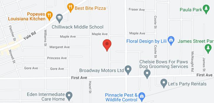 map of 4 9299 WOODBINE STREET