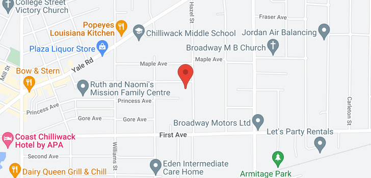 map of 204 46374 MARGARET AVENUE