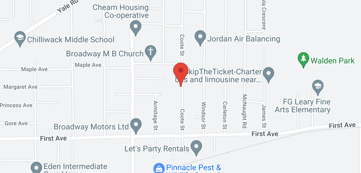 map of 9351 COOTE STREET
