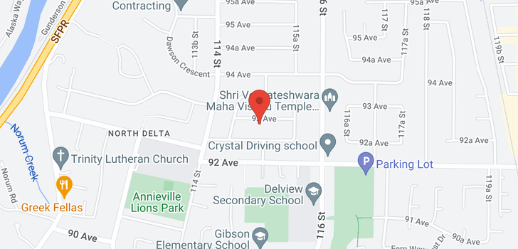 map of 11478 93 AVENUE