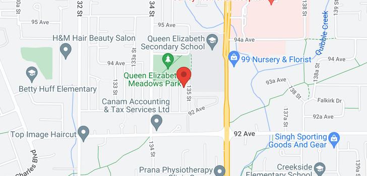 map of 9327 135 STREET