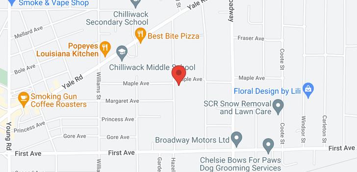 map of 1 9376 HAZEL STREET