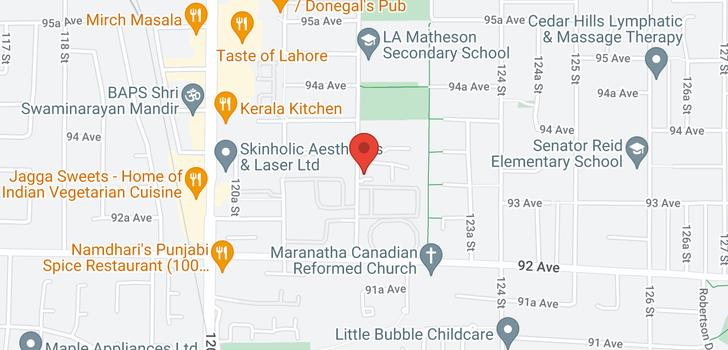 map of 9316 122 STREET