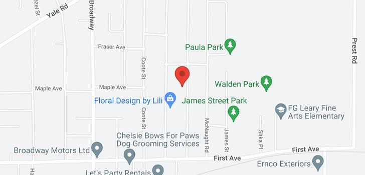 map of 9395 CARLETON STREET