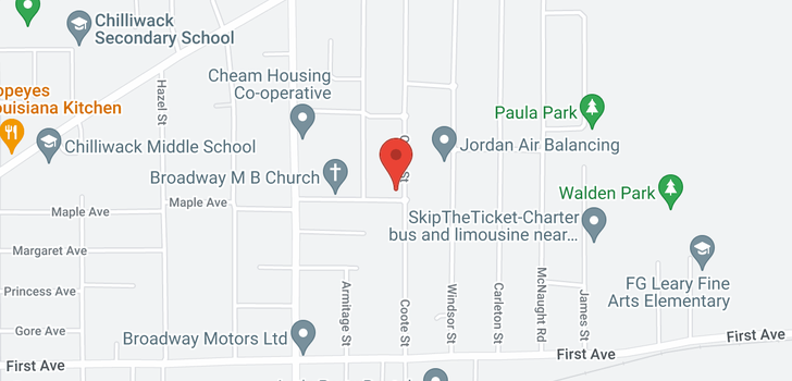 map of 9409 COOTE STREET