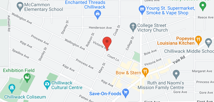 map of 9422 COOK STREET