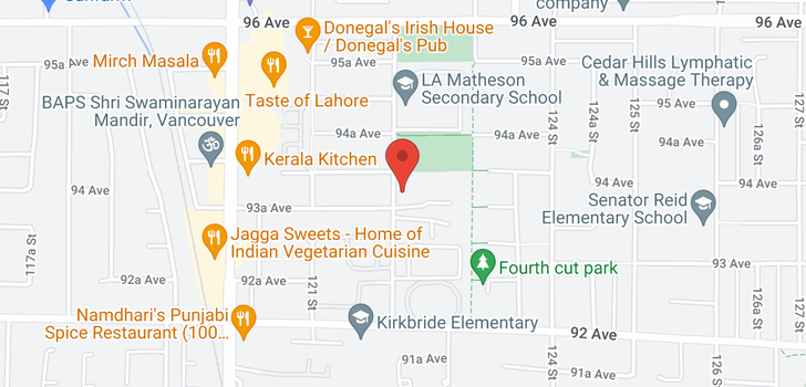 map of 58 9382 122 STREET