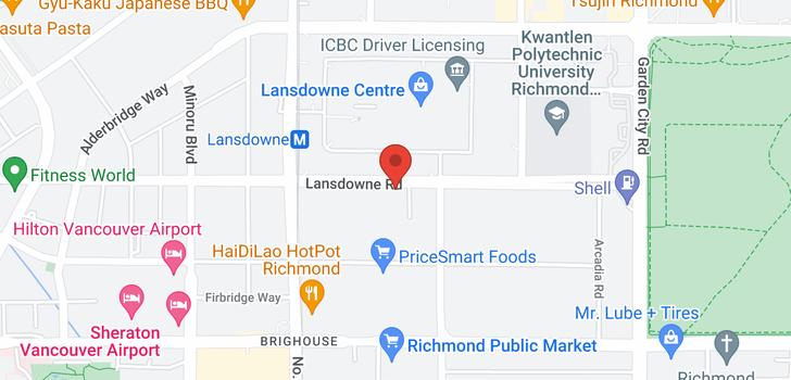 map of 608 8280 LANSDOWNE ROAD