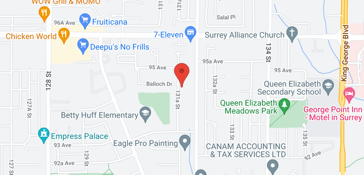 map of 9476 131A STREET