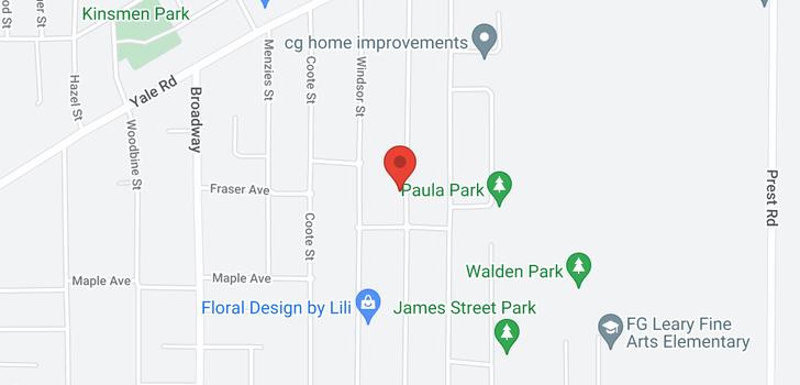 map of 9495 CARLETON STREET