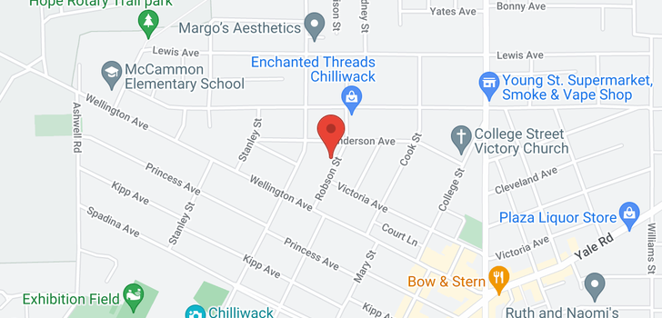 map of 9511 ROBSON STREET