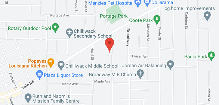 map of 15 9515 WOODBINE STREET
