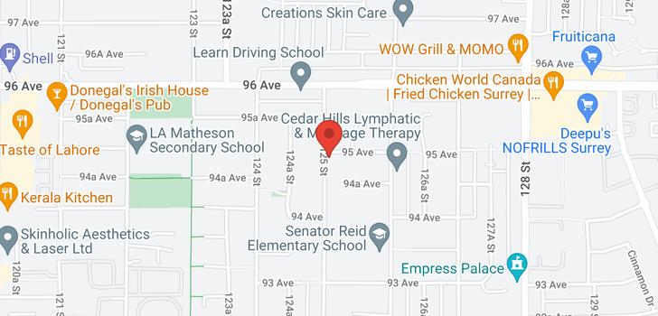 map of 9480-9482 125 STREET