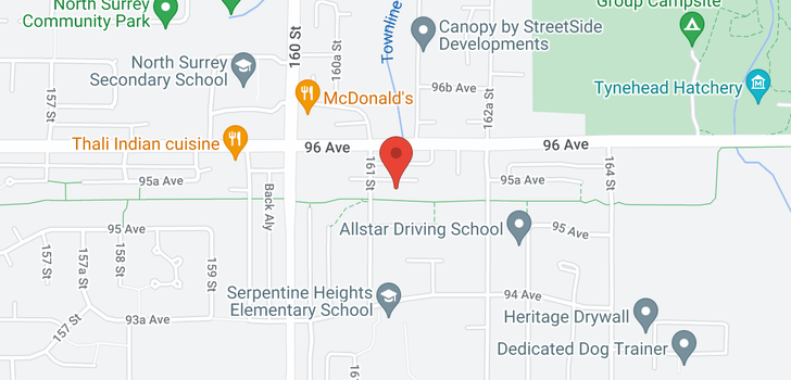 map of 16130 95A AVENUE