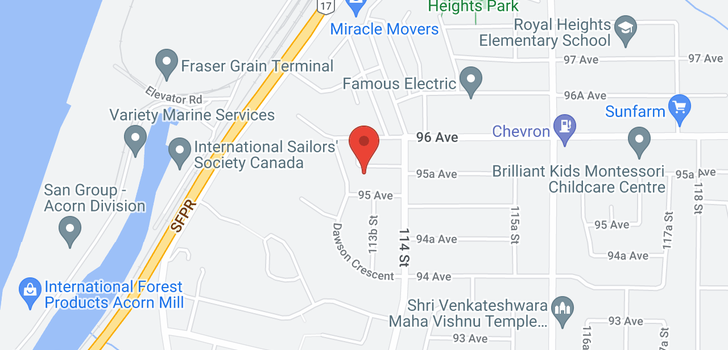 map of 11340 95A AVENUE