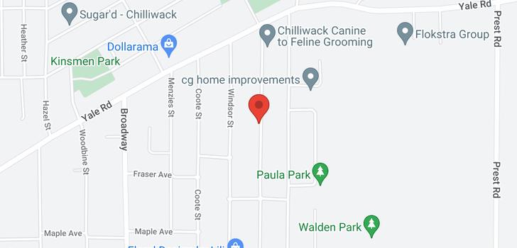 map of 9645 CARLETON STREET